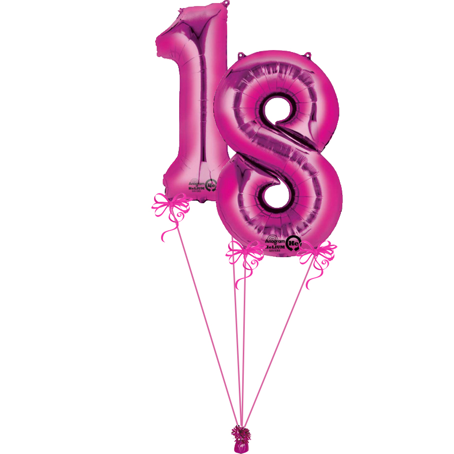 Pink Giant Numbers 18 | Magic Balloons