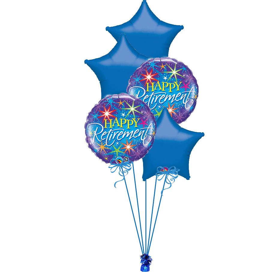 Retirement blue bunch magic balloons