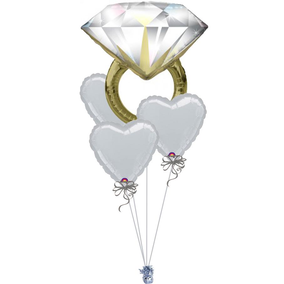 Diamond Wedding Ring Silver Foil Bunch